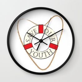 Save Our Youth Wall Clock
