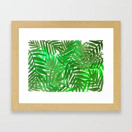 Tropical leaves : green Framed Art Print