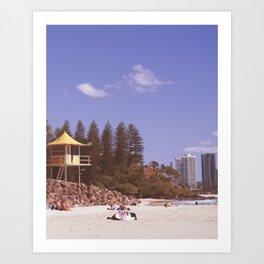 a day at the Beach 10 Art Print