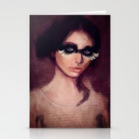 raven Stationery Cards featuring Raven by SannArt