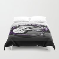 bass Duvet Covers featuring Music - Bass by yahtz designs