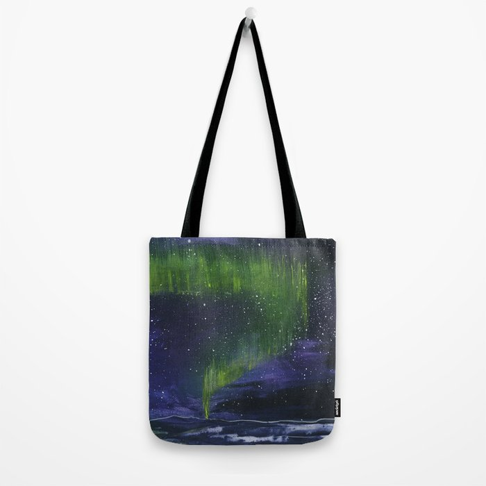 Northern light painting Tote Bag