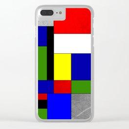 Mondrian #4 Clear iPhone Case