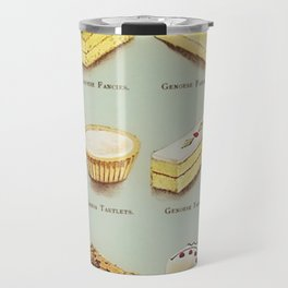 From the Book of Cakes, Variety of Fancies, Cakes, and Delicious Deserts  Travel Mug
