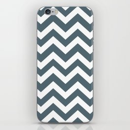 Cadet - grey color - Zigzag Chevron Pattern iPhone Skin