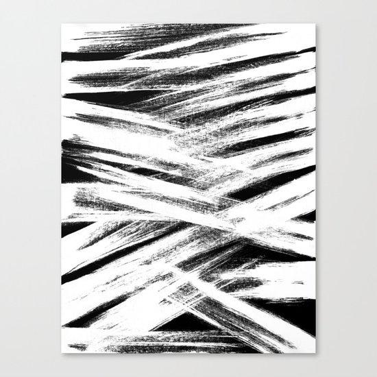 White brush Canvas Print