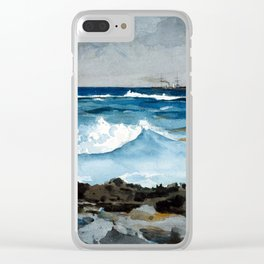 Winslow Homer Shore and Surf, Nassau Clear iPhone Case