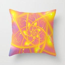 Atomic Sun Fractals Throw Pillow