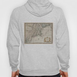 Vintage Map of The New England Coast (1747) Hoody
