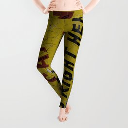 Weathered and Cracking Real Vacation Land Sign Leggings