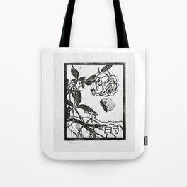 Peony Black and White Tote Bag
