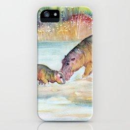 Hippopotamus iPhone Case
