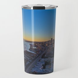 Downtown Seattle Skyline at Sunset 1 Travel Mug