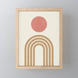 Mid century modern pink Framed Mini Art Print