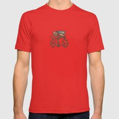 The Biker Mens Fitted Tee Red X-LARGE