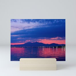 Mount Chortiatis dawn Mini Art Print