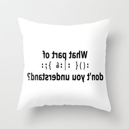 hong kong future Throw Pillow