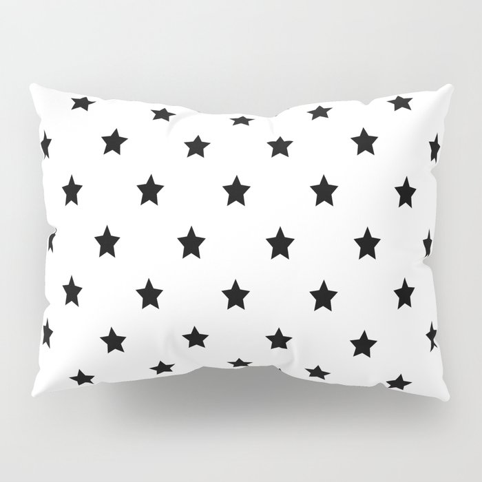 Black and white Star Pattern Pillow Sham