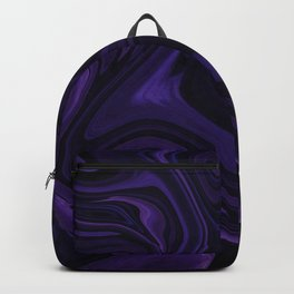Purple liquefy Pattern Backpack
