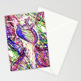 chromatic heart Stationery Cards