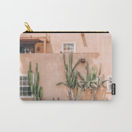 Pink House With Cactus Carry-All Pouch