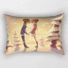 Winter romance Rectangular Pillow