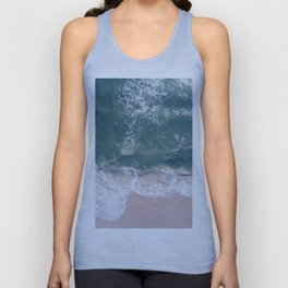 Sea Foam Drone View Unisex Tank Top