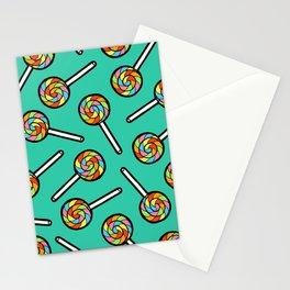Rainbow Lollipop Pattern Stationery Cards