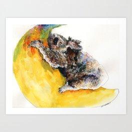 Koala on the Moon Art Print