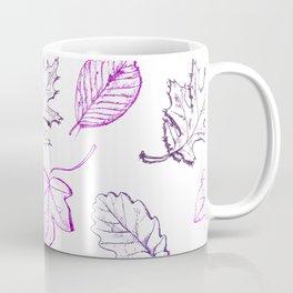 Leaves (purple) Coffee Mug