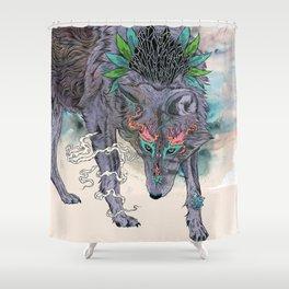 Journeying Spirit (wolf) Shower Curtain