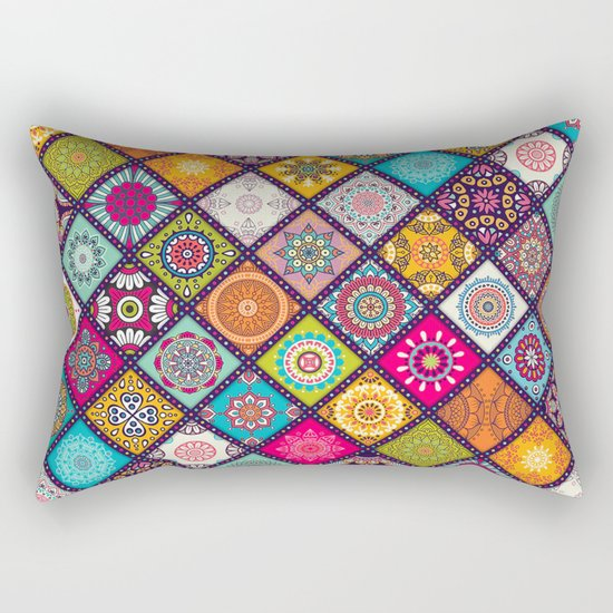 bohemian pattern Rectangular Pillow