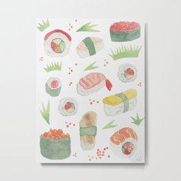 Yummy Sushi Metal Print