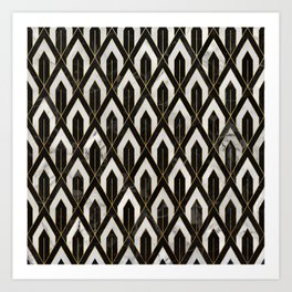 Art Deco Marble Pattern Art Print