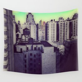 Muted Cityscape Wall Tapestry