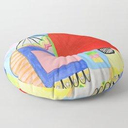 Primary Geo Summer Day Floor Pillow