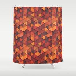 Seamless orange fashion retro hipster pattern Shower Curtain