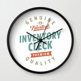Inventory Clerk Wall Clock