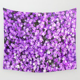 Pretty Purple Flowers, Purple Ground Cover, Beautiful Flowers Wall Tapestry