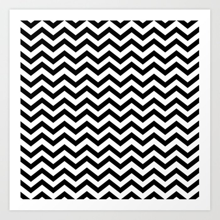 Keep Calm And Dream On Zig Zag Chevron Black Lodge Floor