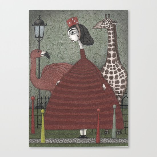 Sunday Excursion to the Zoo Canvas Print