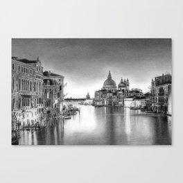 Venice Pencil Drawing Canvas Print