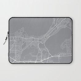 Madison Map, Wisconsin USA - Pewter Laptop Sleeve
