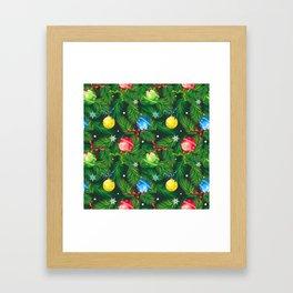 Holiday background Framed Art Print