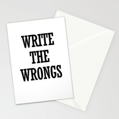 WRITE THE WRONGS Stationery Cards