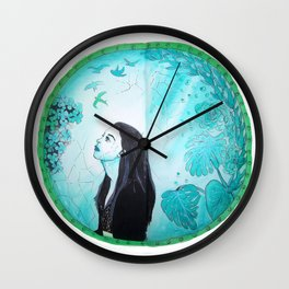 Broken Mirror of my imaginary World Wall Clock