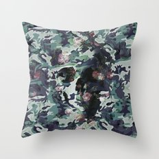 Camouflage Skull V2 Throw Pillow