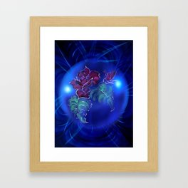 Abstract in perfection - Fertile Imagination Rose 2 Framed Art Print