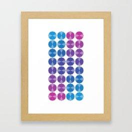 FlowPowBlue Framed Art Print