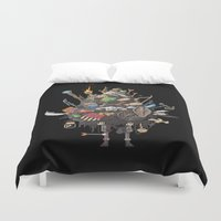 skyrim Duvet Covers featuring Let me guess, someone stole your sweetroll by Fightstacy